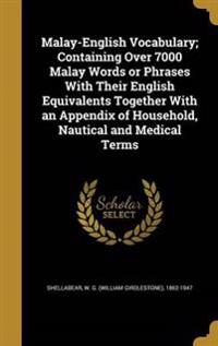 MALAY-ENGLISH VOCABULARY CONTA