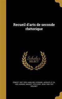 FRE-RECUEIL DARTS DE SECONDE R
