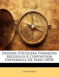 Devoirs D'écoliers Étrangers Recueillis À L'exposition Universelle De Paris (1878)