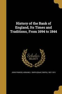 HIST OF THE BANK OF ENGLAND IT