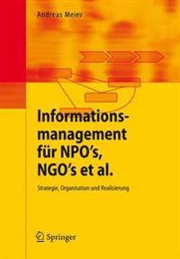Informationsmanagement Fur Npo's, Ngo's ET Al.
