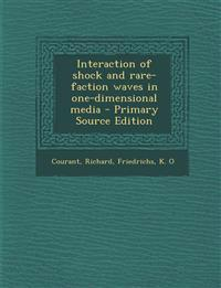Interaction of shock and rare-faction waves in one-dimensional media