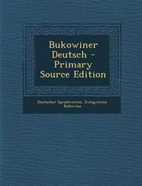 Bukowiner Deutsch