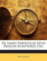 De Immo Particulae Apud Priscos Scriptores Usu