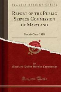 Report of the Public Service Commission of Maryland