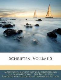 Schriften, Volume 5