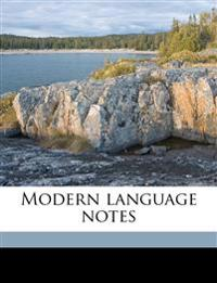 Modern language note, Volume 17