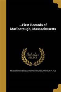1ST RECORDS OF MARLBOROUGH MAS