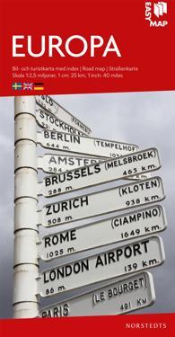 Europa EasyMap : Skala 1:2,5milj