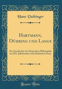 Hartmann, Dühring und Lange