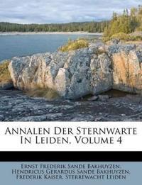 Annalen Der Sternwarte In Leiden, Volume 4
