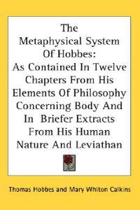 The Metaphysical System of Hobbes