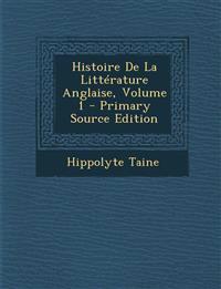 Histoire De La Littérature Anglaise, Volume 1