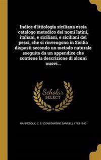 ITA-INDICE DITTIOLOGIA SICILIA