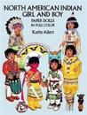 North American Indian Girl and Boy Paper Dolls in Full Color