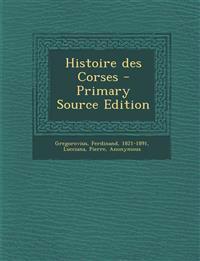 Histoire des Corses