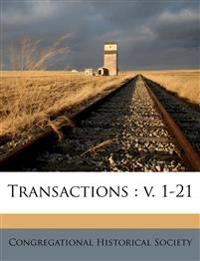Transactions : v. 1-21 Volume 16-17
