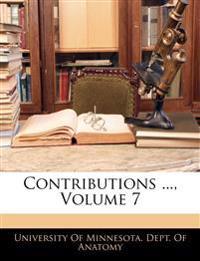 Contributions ..., Volume 7