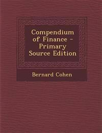 Compendium of Finance