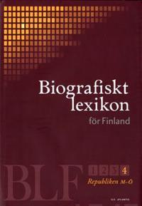 Biografiskt lexikon för Finland 4 Republikens tid M-Ö