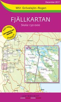 W51 Grövelsjön-Rogen Fjällkartan : Skala 1:50 000