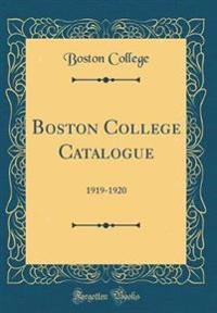 Boston College Catalogue