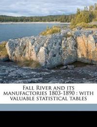 Fall River and its manufactories 1803-1890 : with valuable statistical tables