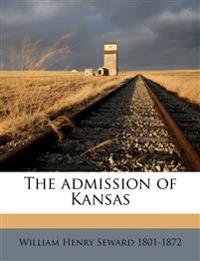 The admission of Kansas