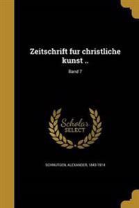 GER-ZEITSCHRIFT FU R CHRISTLIC
