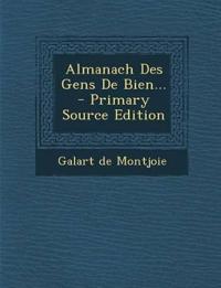 Almanach Des Gens De Bien...