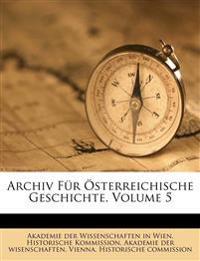 Archiv für Kunde österreichischerGeschichts-Quelle.