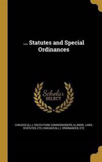 STATUTES & SPECIAL ORDINANCES