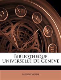 Bibliqtheque Universelle De Geneve