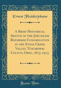 A Brief Historical Sketch of the Jerusalem Reformed Congregation in the Stone Creek Valley, Tuscarawas County, Ohio, 1815-1915 (Classic Reprint)