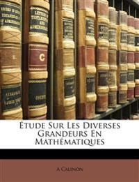 Étude Sur Les Diverses Grandeurs En Mathématiques