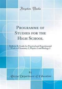 Programme of Studies for the High School