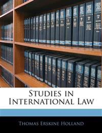 Studies in International Law