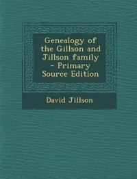 Genealogy of the Gillson and Jillson family