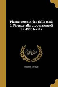 Pianta Geometrica Della Citta Di Firenze Alla Proporzione Di 1 a 4500 Levata