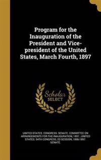 PROGRAM FOR THE INAUGURATION O
