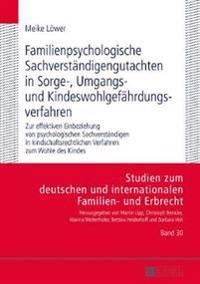 Familienpsychologische Sachverstaendigengutachten in Sorge-, Umgangs- Und Kindeswohlgefaehrdungsverfahren