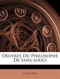 Oeuvres Du Philosophe De Sans-souci