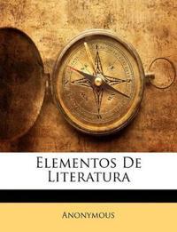 Elementos De Literatura