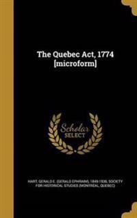 QUEBEC ACT 1774 MICROFORM
