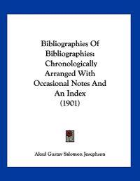 Bibliographies of Bibliographies