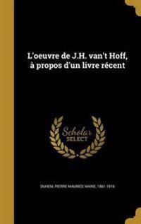 FRE-LOEUVRE DE JH VANT HOFF A