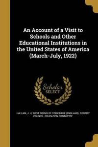 ACCOUNT OF A VISIT TO SCHOOLS