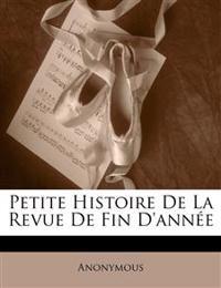 Petite Histoire De La Revue De Fin D'année
