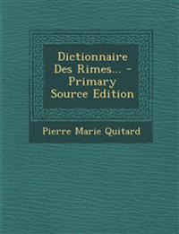 Dictionnaire Des Rimes...