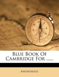 Blue Book Of Cambridge For ......